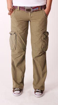 New In - Old Cotton Cargo   Woman Cargo Pant, style inspiration    Old Cotton Cargo, Yeni Bayan Yeşil Kargo Pantolon
