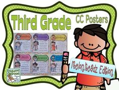 Common Core Third Grade Posters (I can...) Melonheadz Edition
