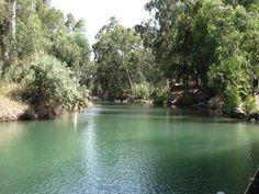 Jordan River as it exits the Sea of Galilee