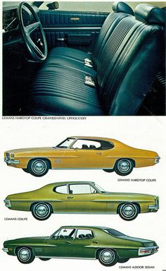 1971 Pontiac LeMans 2 Door Hardtop, 2 Door Sedan and 4 Door Sedan
