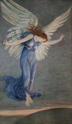 THE ANGEL of PEACE by Walter Crane (1845-1915)