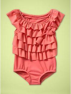 Love this little girls swimsuit!!
