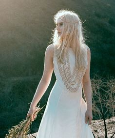 Exclusive Coiled Snake Bridal Gown by Mara Hoffman.