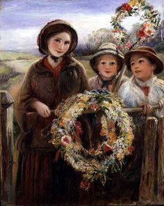 Thomas Falcon Marshall: 'May Day Garlands', 1860