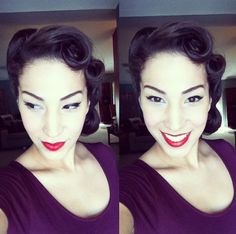 #Pinup , #rockabilly , #50's , #hair
