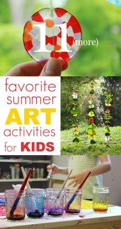 Summer art activities for kids -- great list of ideas!