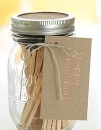 DIY Gift Guide: Mason Jar Matches