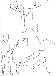 Fertile crescent map