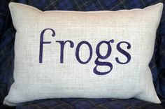 TCU frogs Stenciled Burlap Pillow by BurlapPillowsEtc on Etsy, $40.00