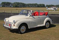 The Morris Minor MM - The iconic, British economy car of the last 1940's. This low powered convertible version is, perhaps, the perfect, affordable first car for a young driver looking for the vintage look. The only downside being the lack of ABS braking or power steering!