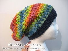 Meladoras Creation | Butterfly Stitch Slouch Hat - Free Crochet pattern