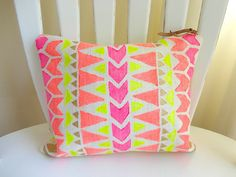 Tribal neon pouch