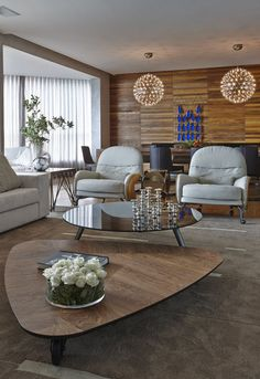 Apartment LA showcases rustic contemporary details in Brazil by architect David Guerra