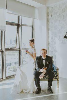 modern wedding photography, photo by Amber Gress http://ruffledblog.com/a-styled-wedding-at-brooklyns-wythe-hotel #weddingportrait #modernwedding