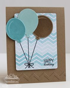 Party Balloons; Jumbo Mod Borders; Party Balloons Die-namics; Blueprints 5 Die-namics; Chevron Stripes Die-namics - Julie Dinn