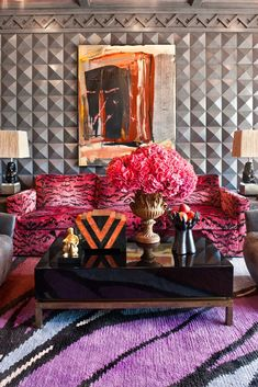 metal stud wall   - Kelly Wearstler's 7 Steps to Pulling Off Bold Color via @domainehome