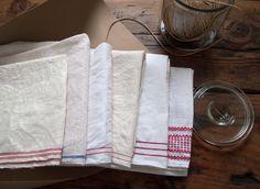 farmhouse basics vintage dish towel by cottagefarm on Etsy