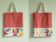 DIY: pixel painting tote bag