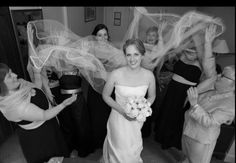 Rebecca and her veil #bride #wedding