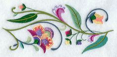 Summer Lovin' Jacobean Floral Border