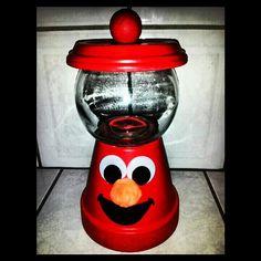 Elmo gumball machine centerpiece!