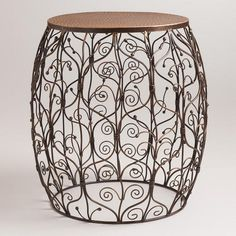 One of my favorite discoveries at WorldMarket.com: Gate Metal Drum Table