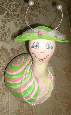 GOURD PORCH CRITTER / Snail by Sassykinz on Etsy, $25.00