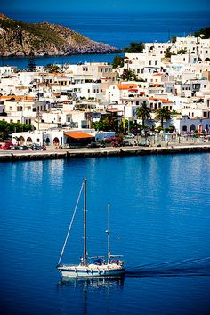The only commercial harbor of Patmos, Skala, Greece
