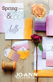 @Jo-Ann Fabric and Craft Stores Spring 2014 Trends and Ideas (Ombre thank you cards)
