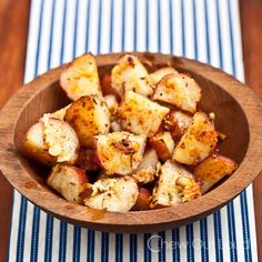 Garlic Butter Herb Red Potatoes - Crisp, soft, garlicky, and buttery.  Topped with golden parmesan.