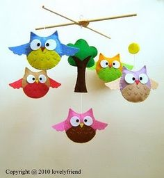 Owl Mobile shop, owl mobil, baby owls, mobiles, nurseri, mini books, babi owl, friend, babies rooms