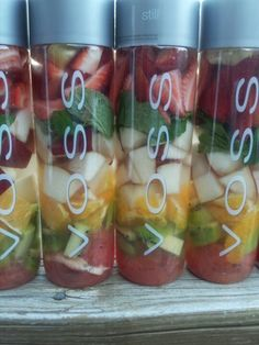 VOSS fruit water by Chef Charles
