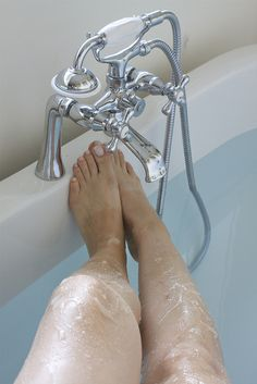 Silky Summer Legs. Sugar, oil, and lemon juice