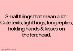 The little things....