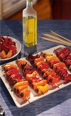 Pero Family Farms®  Mini Sweet Kabobs--A colorful and quick side dish, or appetizer, for any occasion!