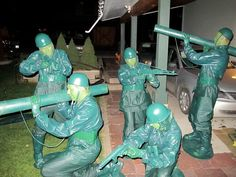 Little green Army men Halloween Costume