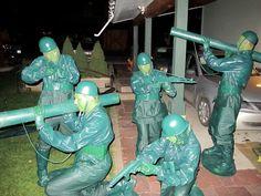 Little green Army men Halloween Costume