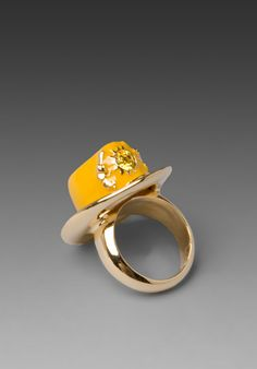 Disaya yellow cowboy hat ring from Revolve Clothing