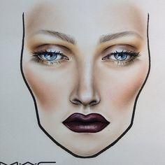 makeup chart, mac face, facecharts, chart face makeup, mac makeup face charts