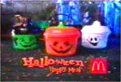 Halloween Happy Meals...totally forgot about those!