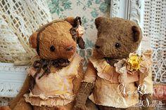 Vintage Sweet Bear Couple by bear artist Natali by NataliSekreta, $129.00