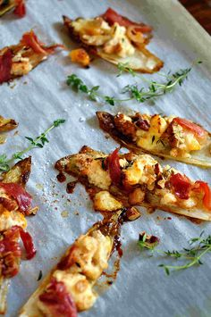 caramelized endives, with apricot Stilton
