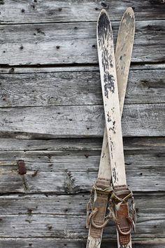 Vintage skis.