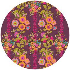 Alison Glass, Field Day, Large Flowers Purple