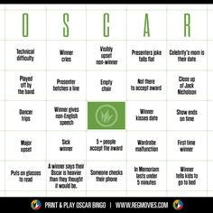 #Oscars #Bingo #Oscars2014