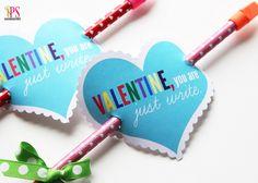 Pencil Arrow Valentines   Free Printable