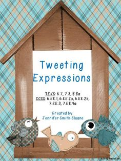 Tweeting Expressions Review Game for 6th-8th