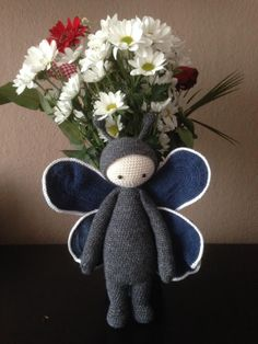 Butterfly mod made by Ines W. / based on the lalylala crochet pattern BUZZ the house fly