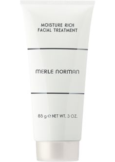 Merle Norman Moisture Rich Facial Treatment  For all skin types.   Your weekly refresher course for stressed, fatigued skin. This 10-minute intensive moisturizing treatment immediately rejuvenates a dull, dry complexion. Natural ingredients provide instant hydration. Cooling Menthol and Coneflower soothe and refresh while energizing vitamins leave skin beautifully soft and conditioned. Added firming ingredients help reduce the appearance of fine lines. Ophthalmologist tested. Non-comedogenic.