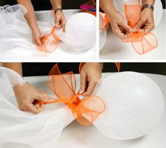 Party Ideas by Mardi Gras Outlet: DIY: Halloween Ghosts made with Deco Mesh